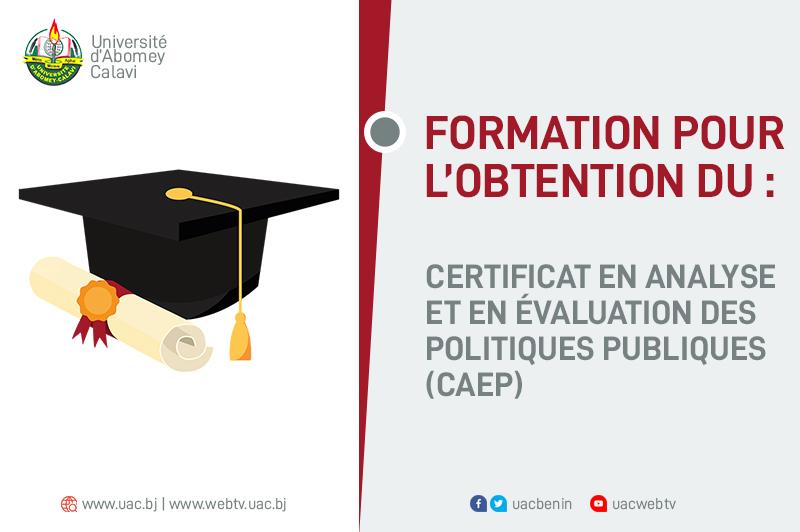 Certificat en analyse et en évaluation des  politiques publiques (CAEP)