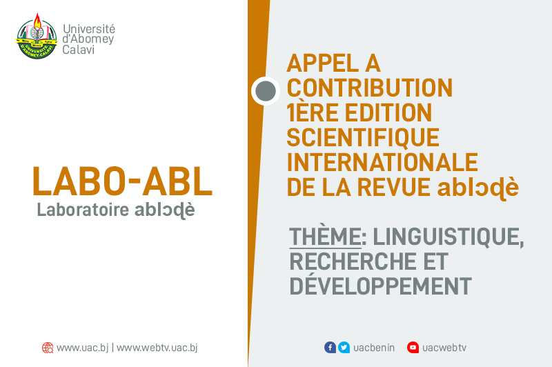 Appel à contribution 1ère édition scientifique internationale de la revue ablɔɖè